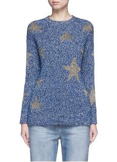ValentinoMetallic star intarsia mouliné knit sweater
