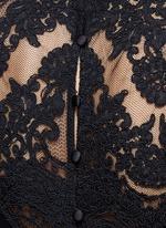 'Dandi' floral lace crepe top