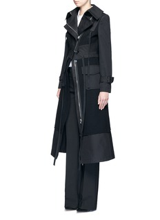 Alexander McQueen Cotton patchwork felted virgin wool military coat