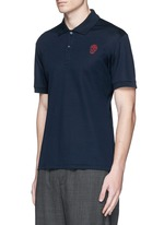 Skull embroidery polo shirt