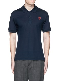 Alexander McQueenSkull embroidery polo shirt