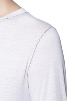 'Detached cuff' cotton-cashmere T-shirt