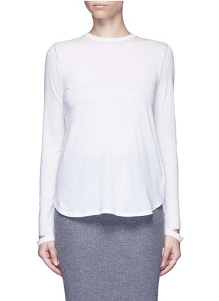 Helmut Lang - 'Detached cuff' cotton-cashmere T-shirt