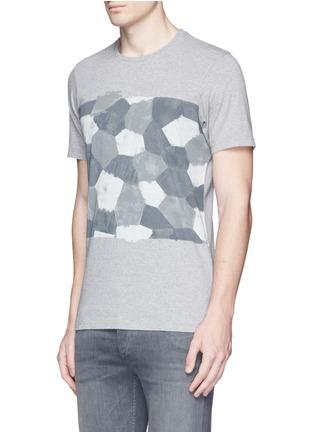 Denham-'D-VII Camo' print cotton T-shirt