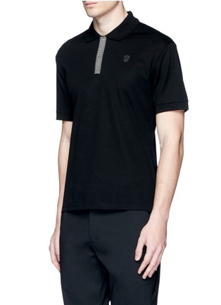 Front View - Click To Enlarge - Alexander McQueen - Logo stud placket polo shirt