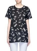 Musical note print jersey T-shirt