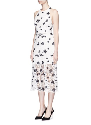 Figure View - Click To Enlarge - alice + olivia - 'Ophelia' floral guipure lace midi skirt