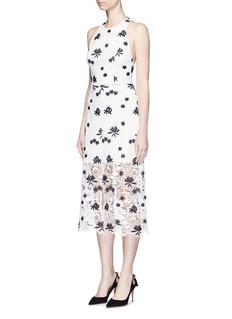 ALICE + OLIVIA'Ophelia' floral guipure lace midi skirt