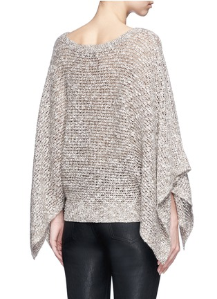 Back View - Click To Enlarge - alice + olivia - 'Emberle' mélange knit poncho