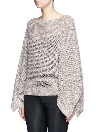 Front View - Click To Enlarge - alice + olivia - 'Emberle' mélange knit poncho