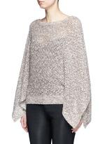 'Emberle' mélange knit poncho