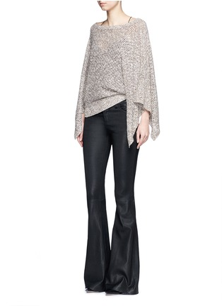 Figure View - Click To Enlarge - alice + olivia - 'Emberle' mélange knit poncho