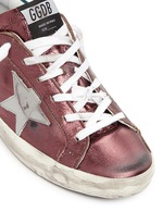 'Superstar' smudged metallic leather sneakers