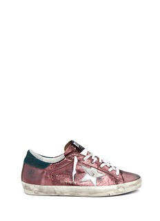 Golden Goose 'Superstar' smudged metallic leather sneakers