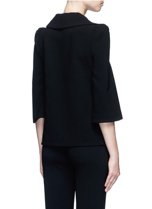 Back View - Click To Enlarge - Co - Flared sleeve crepe top