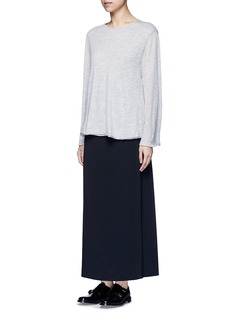 The Row 'Zadie' flare sleeve cashmere sweater
