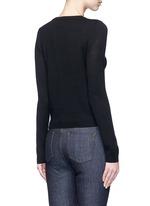 'Zach' embellished slogan wool sweater