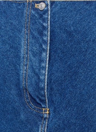 Detail View - Click To Enlarge - Balenciaga - Stonewashed cotton denim top