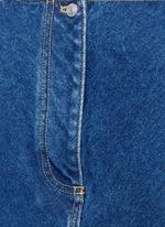 Stonewashed cotton denim top