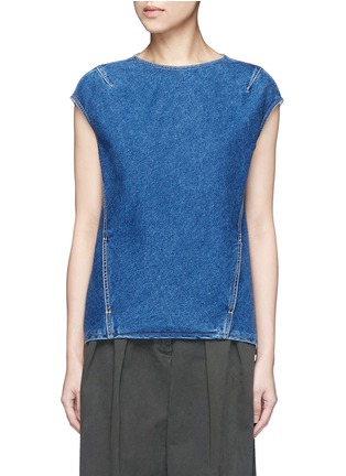 Main View - Click To Enlarge - Balenciaga - Stonewashed cotton denim top