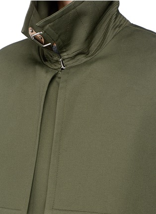 Detail View - Click To Enlarge - Balenciaga - Cotton twill trench coat