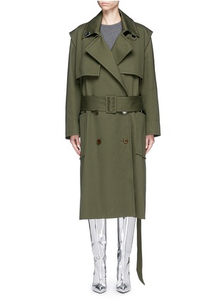 Main View - Click To Enlarge - Balenciaga - Cotton twill trench coat