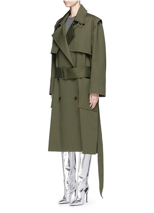 Figure View - Click To Enlarge - Balenciaga - Cotton twill trench coat