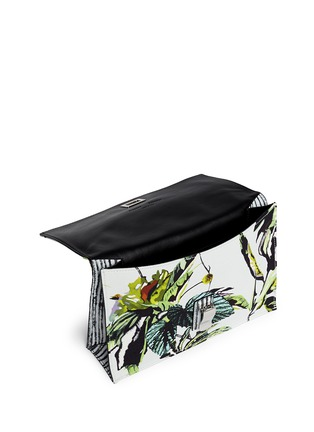 Detail View - Click To Enlarge - Proenza Schouler - 'Lunch Bag' small floral print satin crepe clutch
