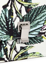 'Lunch Bag' small floral print satin crepe clutch