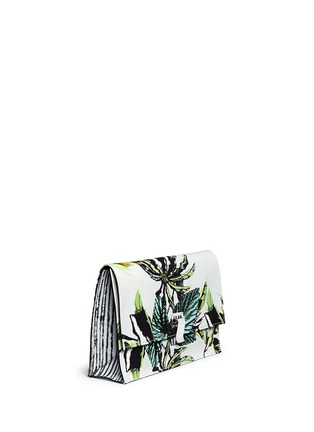 Front View - Click To Enlarge - Proenza Schouler - 'Lunch Bag' small floral print satin crepe clutch