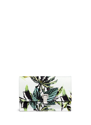 Main View - Click To Enlarge - Proenza Schouler - 'Lunch Bag' small floral print satin crepe clutch