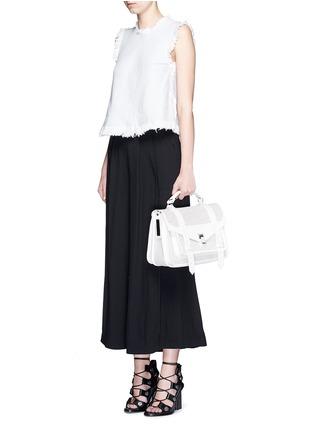 - Proenza Schouler - 'PS1' medium perforated leather satchel