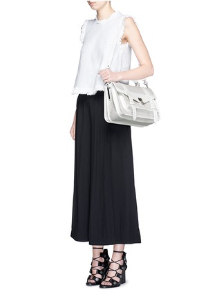 Figure View - Click To Enlarge - Proenza Schouler - 'PS1' medium perforated leather satchel