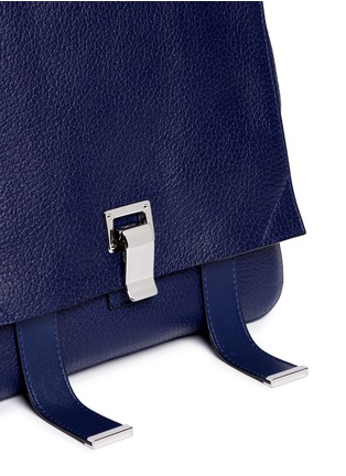 Detail View - Click To Enlarge - Proenza Schouler - 'Courier' small pebbled leather backpack