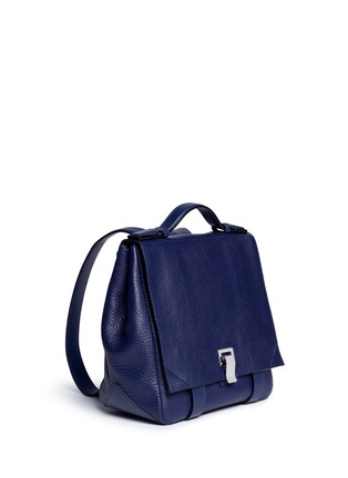 Front View - Click To Enlarge - Proenza Schouler - 'Courier' small pebbled leather backpack