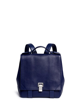 Main View - Click To Enlarge - Proenza Schouler - 'Courier' small pebbled leather backpack