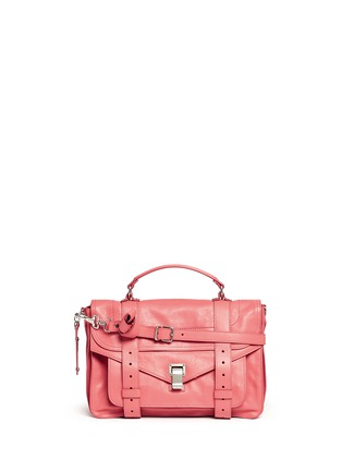 Main View - Click To Enlarge - Proenza Schouler - 'PS1' medium leather satchel