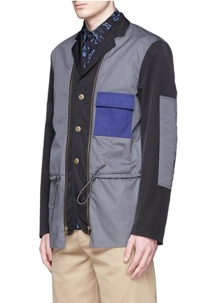 Front View - Click To Enlarge - Marni - Reversible contrast pocket drawstring blazer