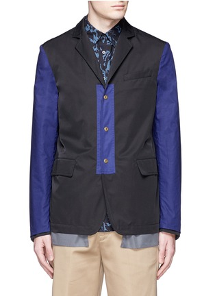 Main View - Click To Enlarge - Marni - Reversible contrast pocket drawstring blazer