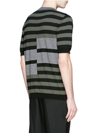 Back View - Click To Enlarge - Marni - Stripe cotton-wool short sleeve sweater