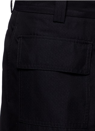 Detail View - Click To Enlarge - Marni - Wide leg jacquard shorts