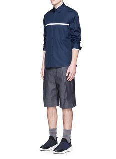 MARNIChest stripe cotton poplin shirt