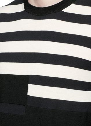 细节 - 点击放大 - Marni - 拼色横纹棉混羊毛针织衫