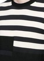 Stripe cotton-wool sweater