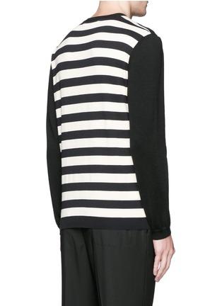 背面 - 点击放大 - Marni - 拼色横纹棉混羊毛针织衫