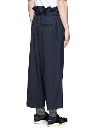 Back View - Click To Enlarge - Marni - Paperbag waist crinkle wool wide leg pants
