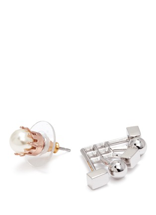 Detail View - Click To Enlarge - Joomi Lim - 'Lady Rebel' sphere cube ear deco earrings