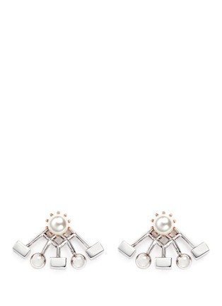 Main View - Click To Enlarge - Joomi Lim - 'Lady Rebel' sphere cube ear deco earrings