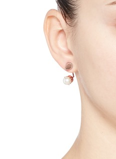 JOOMI LIM 'Lady Rebel' spike stud floating pearl earring set