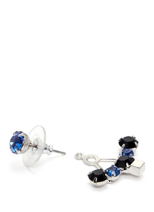 Detail View - Click To Enlarge - Joomi Lim - 'Pixel Perfect' cube crystal ear deco earrings